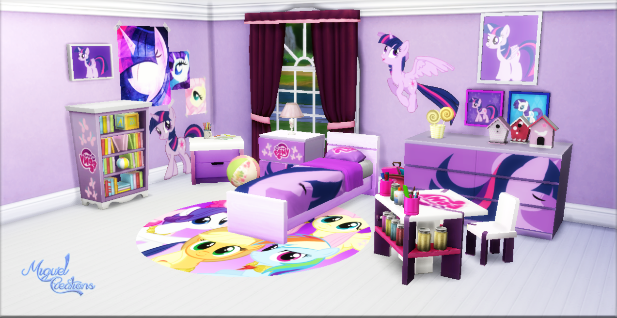 Miguel Creations Ts4 Bedroom My Little Pony