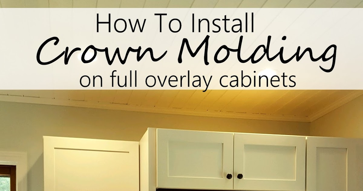 diy design fanatic how to install crown molding on full overlay cabinets. Black Bedroom Furniture Sets. Home Design Ideas