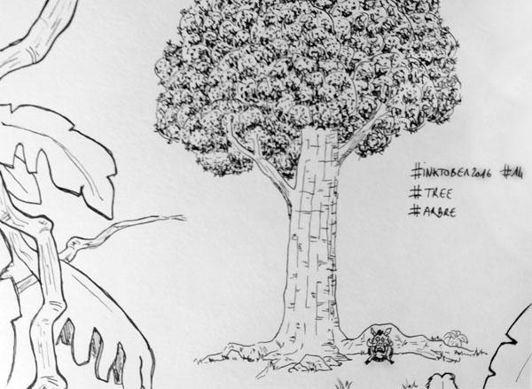 Inktober 2016 - Jour 14 - Arbre (Tree)