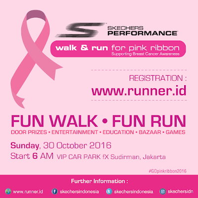 Skechers Pink Ribbon Fun Walk And Fun Run 2016 Jakarta FX Sudirman Jl. Jenderal Sudirman Bundaran Hotel Indonesia