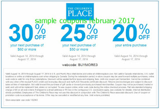 free Childrens Place coupons for february 2017