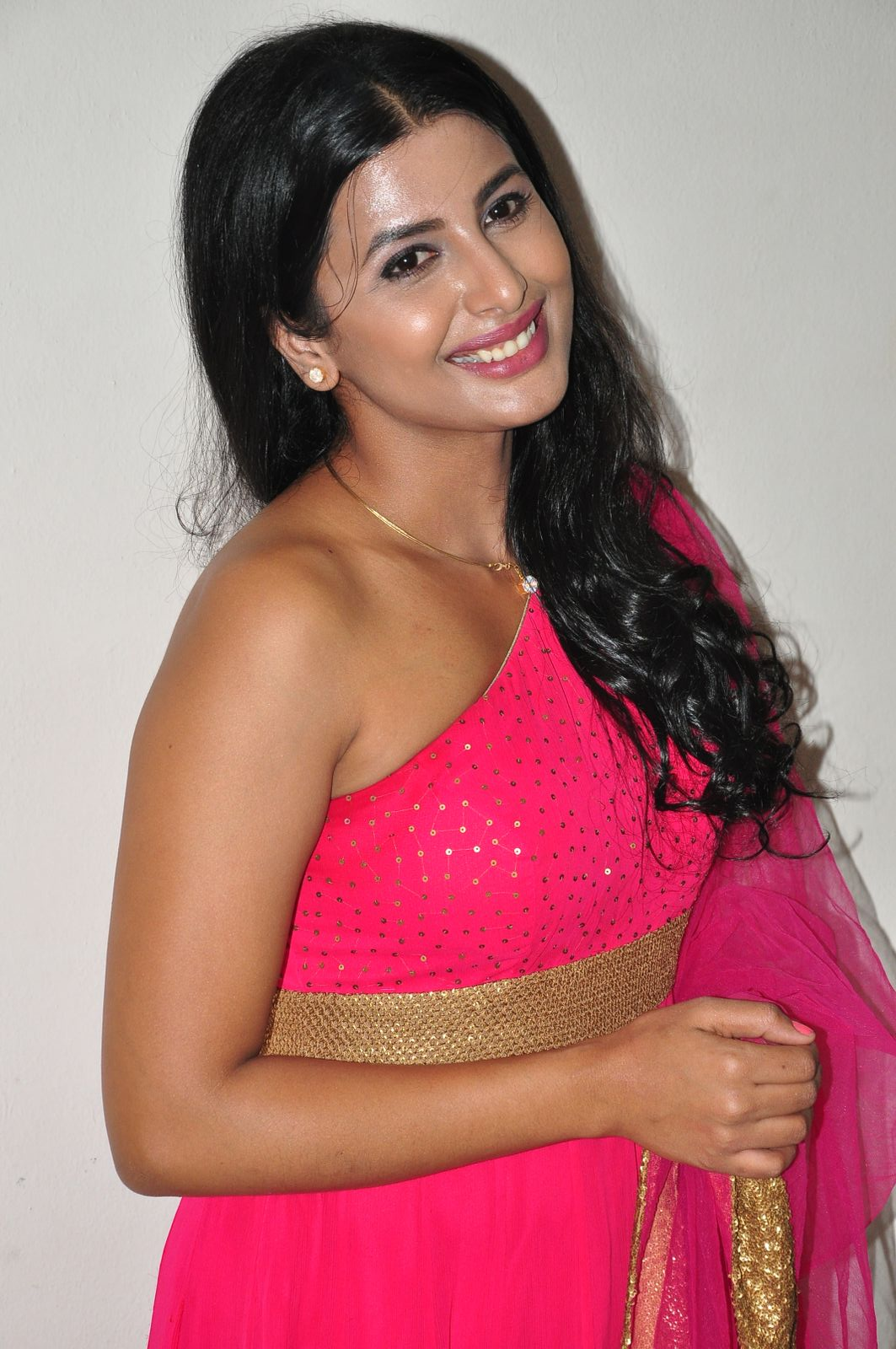 Rajshri Ponnappa Hot Photos In Pink Dress