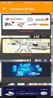 Penggunaan Aplikasi Kumpulan remaja