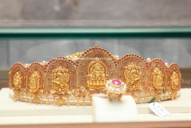 Lakshmi Peacock Gold Vaddanam