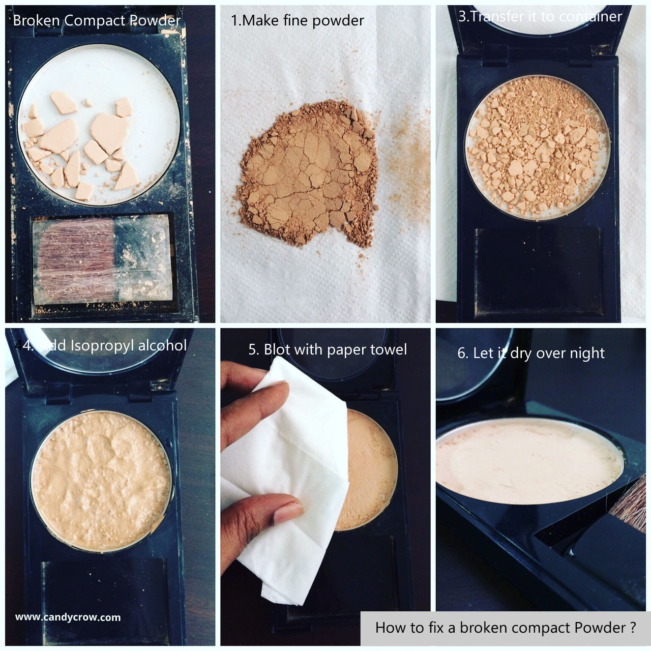 How to Fix Broken Compact Powder, Highlighter, Blush and Eyeshadow ...