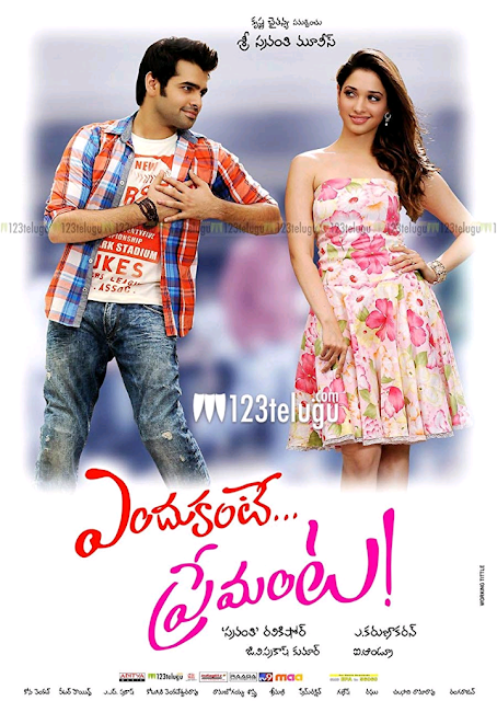 Endukante.... Premanta! is a Telugu term that means Because.... It's Love! The film is also titled in Tamil language as Yen Endral Kadhal Enben!  and directed by A. Karunakaran and produced by Sravanthi Ravi Kishore. The film is starred by Tamannaah and Ram Pothineni in the lead role but there are also some supporting characters who played their role importantly. The film is based on an American romantic comedy film Just Like heaven (2005). The film's plot sets in two different times 1980 and 2012. The film is a romantic paranormal film that is also dubbed in Hindi language as Dangerous Khiladi 5 in 2016.     Plot:   The film is started with a dream sequence of Tamannaah as Sravanthi and Ram Pothineni as Ram. In an unknown road Ram and Sravanthi meet each other. The film is also ended with materializing the dream sequence. The story between the written two sequences is paranormal and a romantic comedy, love story. But It is family drama too. The film refers to two indefinite places one is Hyderabad, India and other is Paris, France. Sravanthi lives with her father (Suman). He works in Indian Embassy. She does not like to confined within the house so she wants freedom. One day she visits India. But In an accident occurred by his father's security commander DK' gangsters, her soul is separated from her body and taken to a hospital. On the other hand her soul is talking to her father that his assistant DK is involved in a terrorism and wants to kill PM. But her father or anyone does not hear her words. So, she is very upset and meets with a young boy Ram in Paris. Only he can hear her words. Ram is a young handsome boy but his father dos not like his son's activities as he is always last in the class and fails in all subjects. So, his father has sent him to Paris, France to his friend's grapes factory so that he can know what actually life is and he can learn from his friend. But Ram releases with the help Sravanthi. But after that he can know that the Embassy officer is her father. Ram takes money from Sravanthi's account and gets a new passport with the help of Sravanthi. Ram comes back to India. Sravanthi tells all about her to Ram at the hospital. So, Ram gets very emotional to her and promised himself to give her a new life. His aunt Dr. Savitha helps him to recover her. At last DK can know that Sravanthi is alive and admitted at a hospital. After that Sravathi's father also know the same. DK fights with Ram but unfortunately DK is died. Sravanthi is recovered and gets her new life.And the last sequence is after that, that is written at first.     Review and personal Analysis:   The film is paranormal romantic comedy film. I have watched before same kind of movie acted by Shahrukh Khan Chamatkar (1992). In this film Endukante.... Premanta! the lead heroine can only talk to Ram but Ram can not touch her. She can easily go away and come back from anywhere for a second. But no one can hear to her words or talk to her. The idea is very powerful and the film is ended with the dream sequence is awesome. Every Tamil or Telugu movies acted by Ram or Tamannaah is hit in the box office. No exception in this film too. Actually these kinds of cinemas are full of entertainment as well as education. But Comedy, love story or romanticism and paranormality are also making the film more educational or informational and entertaining.