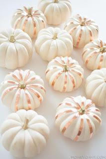 20 Idee Per Decorare Le Zucche Di Halloween Fai-da-te: nastro di rame