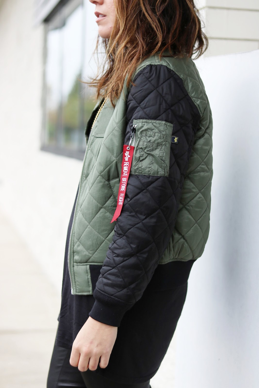 Alpha Industries bomber jacket outfit vancouver fashion blogger