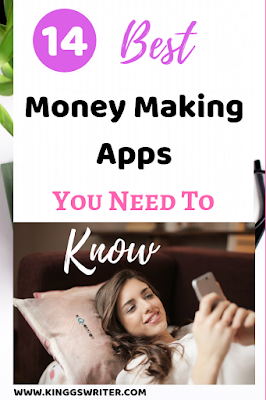 Earn money app, Click to find 14 Money Making apps to earn money online. Money making apps in India that help you to make extra money. Legit money making apps you must try. #moneymakingapps #makemoneyfromsmartphone