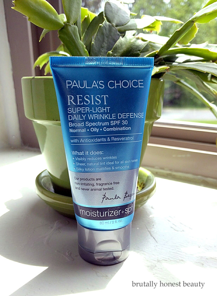 Paula's Choice Resist Super-Light Daily Wrinkle Defense SPF 30 Sunscreen Review