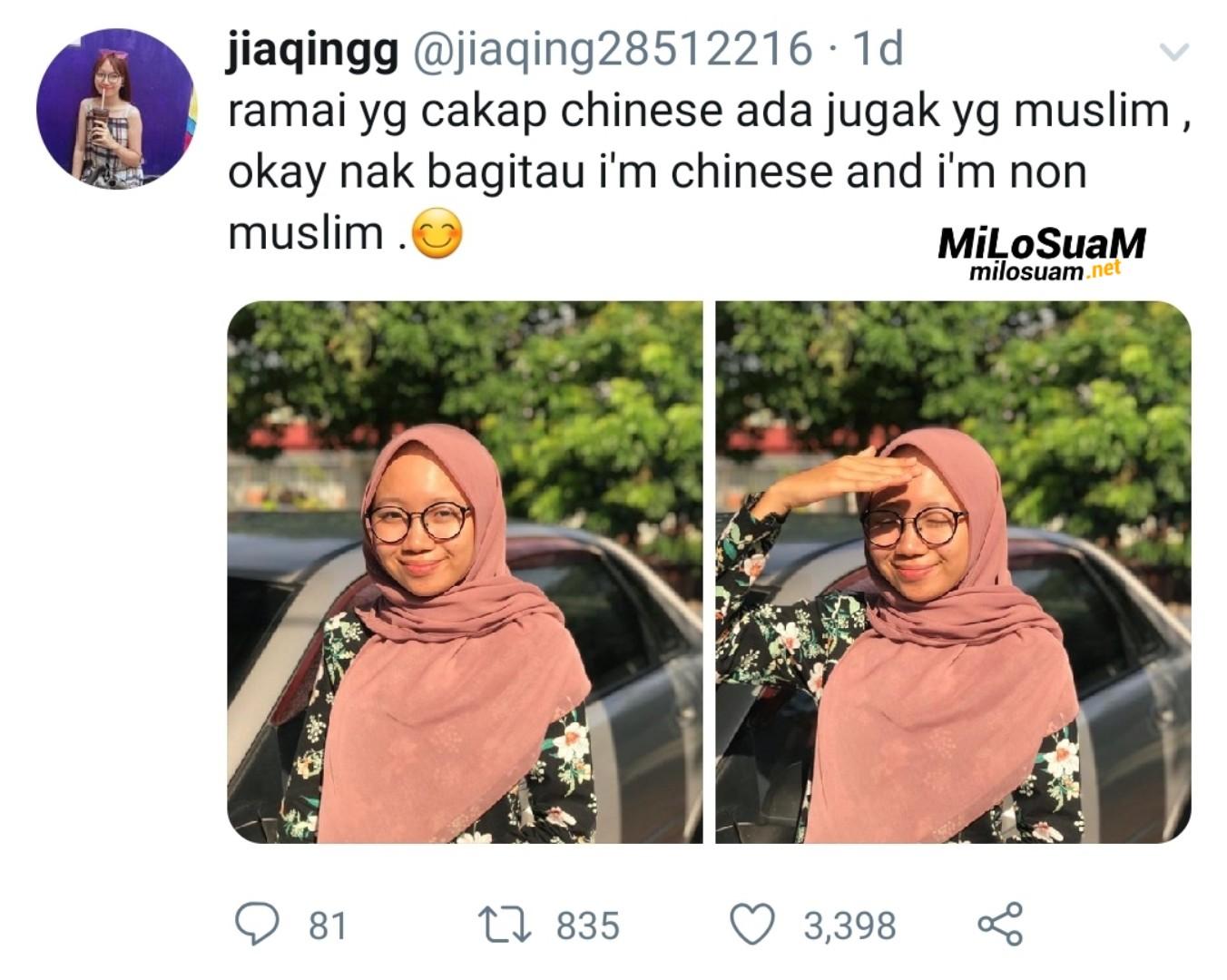 Gadis Cina suka berhijab