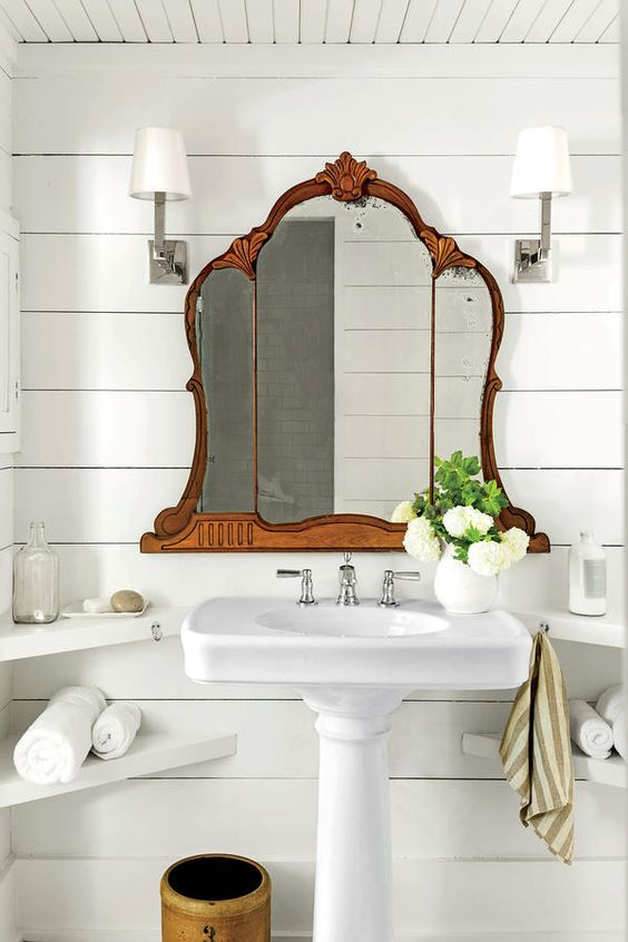 the bathroom cottage style