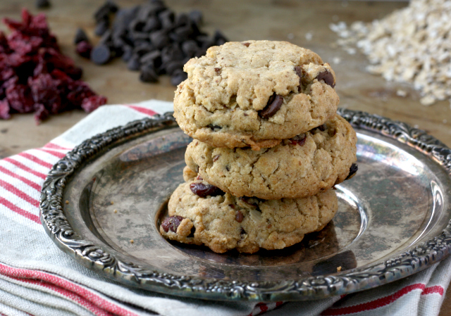 Tahini Oatmeal Chocolate Chip cookies have that wonderful peanut butter cookie texture but are school-friendly since they're nut-free.