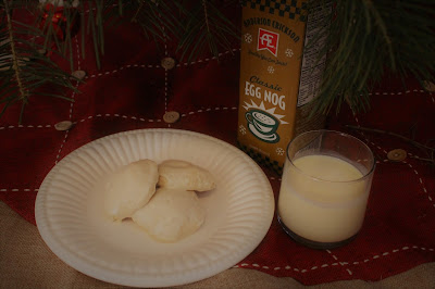 These easy and pillowy soft Egg Nog Cookies with Rum Frosting would be perfect to leave for Santa #AEdairy #sponsored