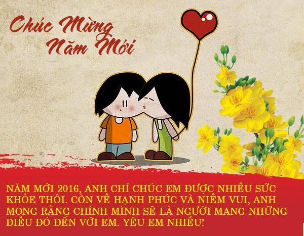 Tin nhắn chúc tết dành tặng người yêu