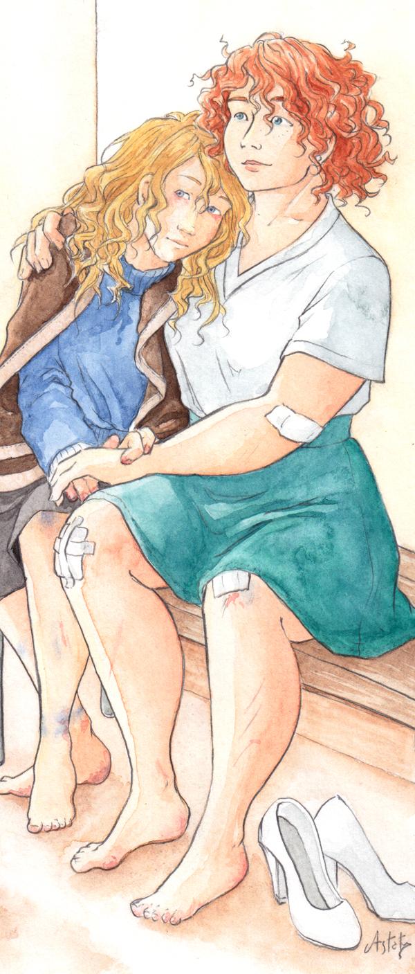 détail illustration à l'aquarelle.