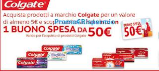 Logo Con Colgate vinci buoni spesa da 50 euro