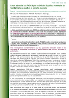 Lettre adressée à la FNCCR par un Officier supérieur de Gendarmerie page 1
