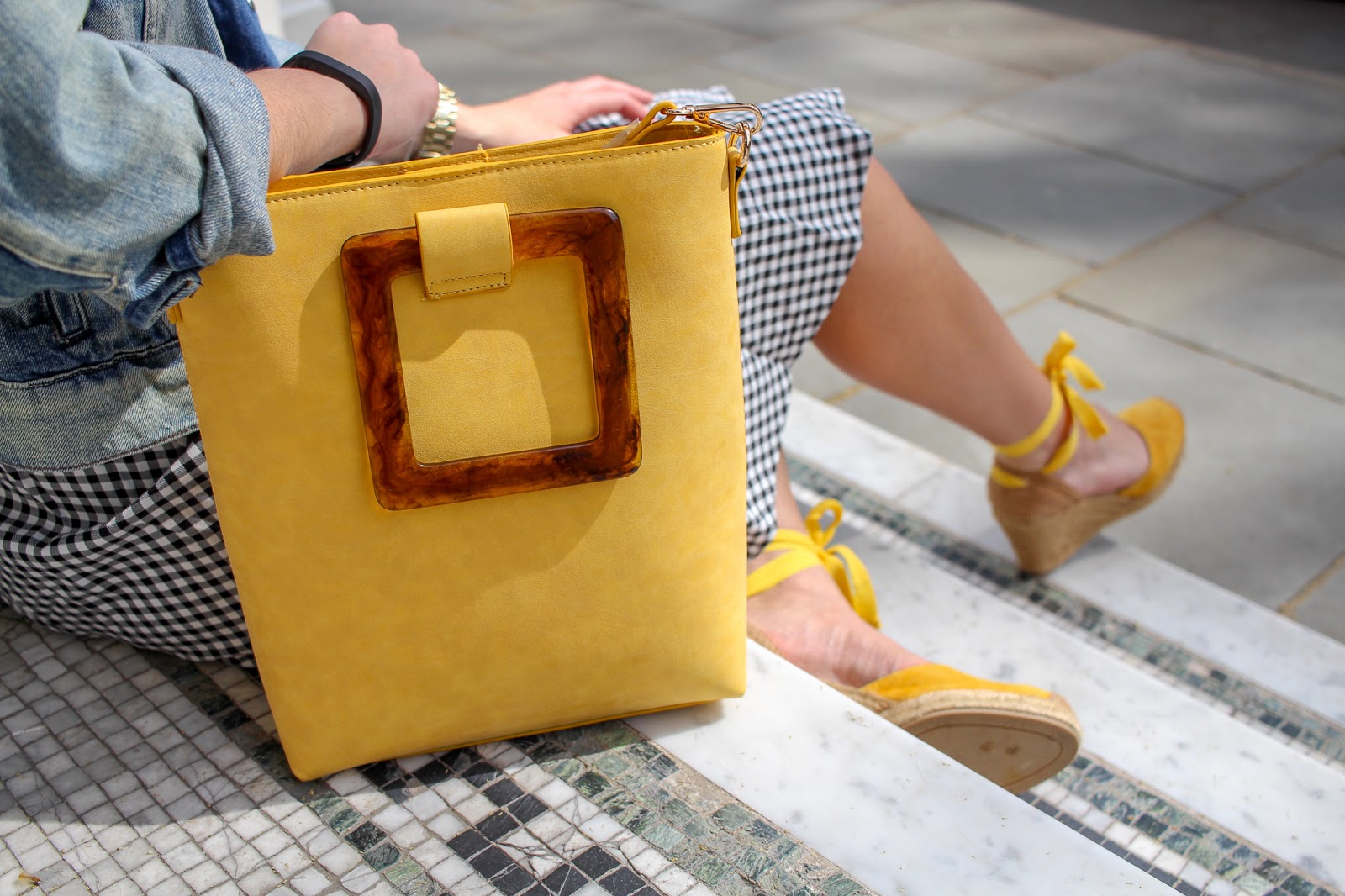 head over heels yellow handbag spring