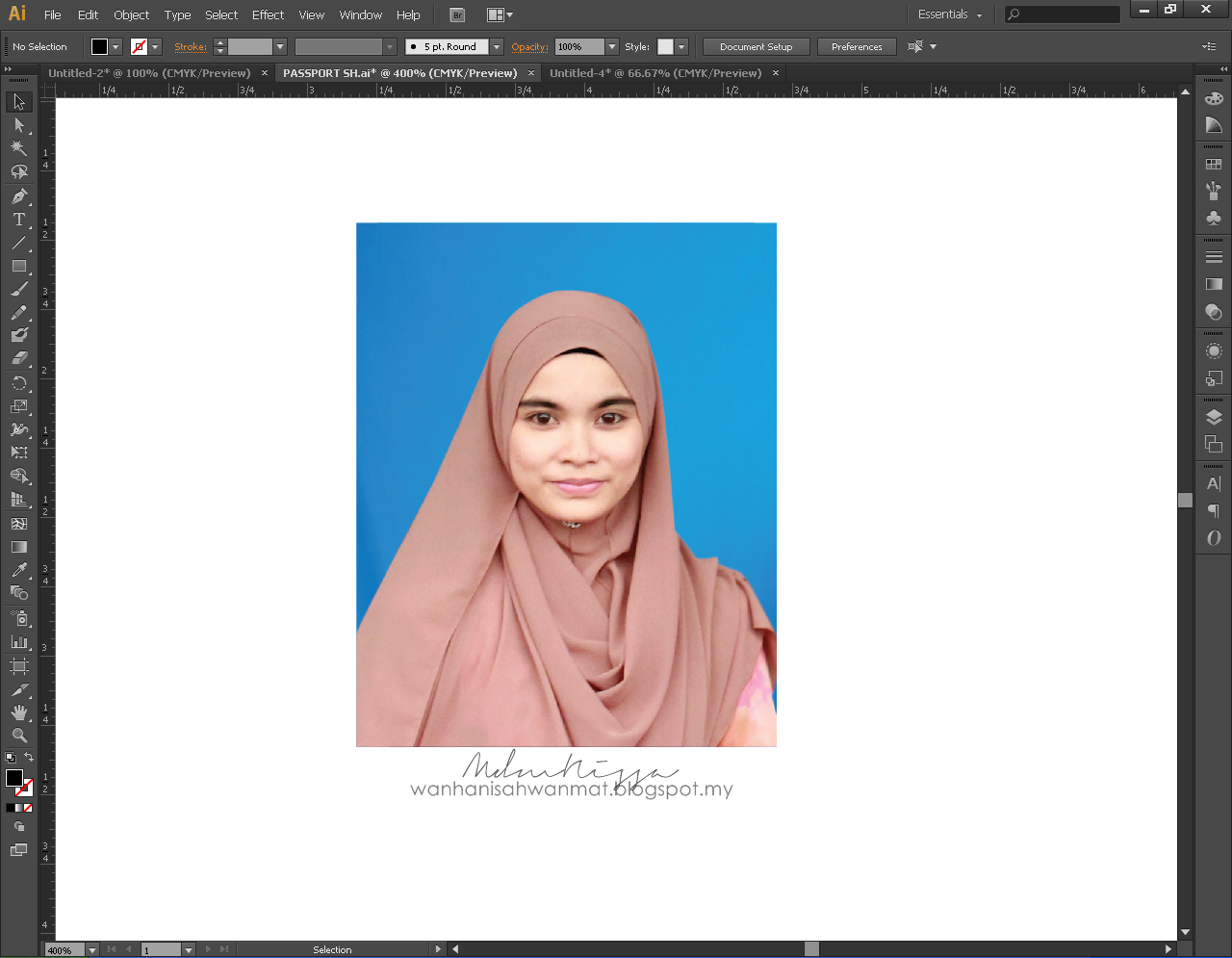 Mdmnissa Tutorial Membuat Gambar Passport