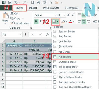 gbr.6 Cara Membuat Tabel Microsoft Excel Nandur93