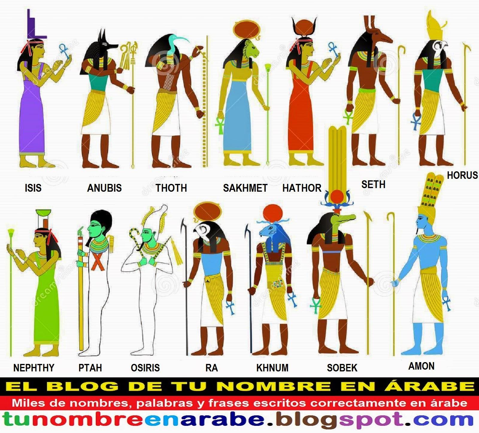 TU NOMBRE EN ÁRABE: Anubis, Bastet y otros Dioses Egipcios