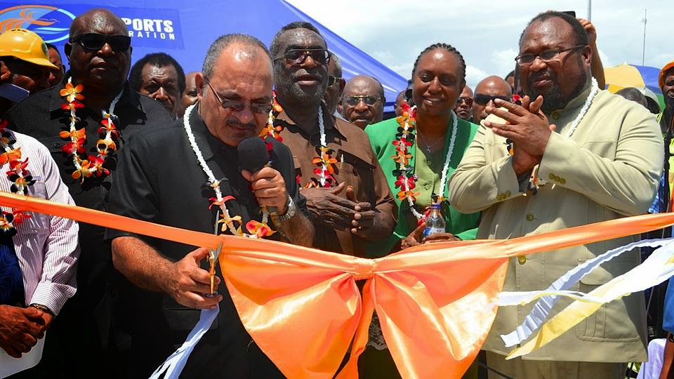 Prime Minister  Peter O'Neill Opens New Lae Port Overseas Wharf Extension
