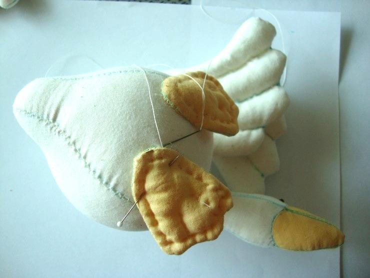 Stuffed animal goose, Spring Country Primitives, Tilda, Goose toy /  Мягкая игрушка Гусь своими руками. Выкройка и описание шитья.
