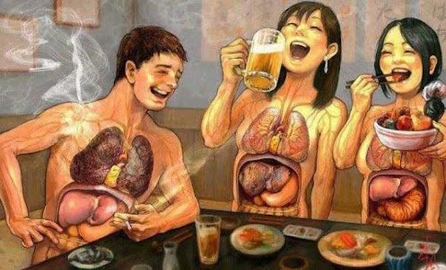 Mengerikan !!! Inilah yang Terjadi Jika Setelah Makan Langsung Merokok