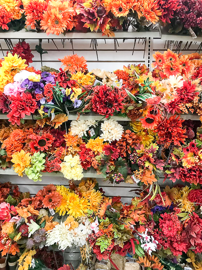Dollar Tree fall florals