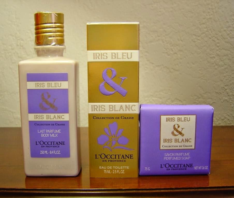 L'Occitane's Iris Blue & Iris Blanc EDT, Body Milk and Soap