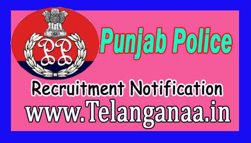 Punjab Police Recruitment Notification 2016