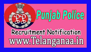 Punjab Police Recruitment Notification 2017