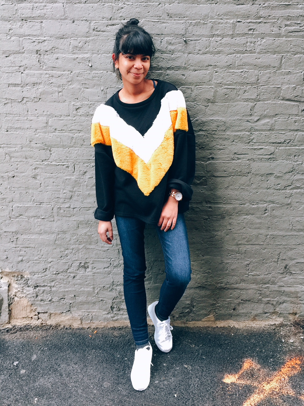 portland fashion blogger, zara, faux fur trim sweater, liver pool dark skinny jeans, nike white cortez, portland fashion, chicago street style, filipina fashionista, affordable fashion, the ptowngirls,