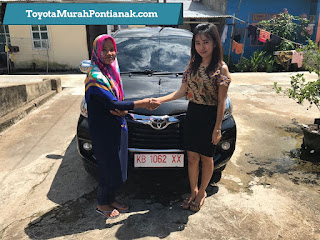 Ibu Atik beli Avanza 1.3 G M/T warna hitam - Harga Toyota di Pontianak