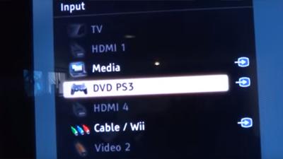 Buka pengaturan input pada TV, setting seperti ini, jika gagal coba inputnya di pilih yang lain karena mungkin beda-beda.