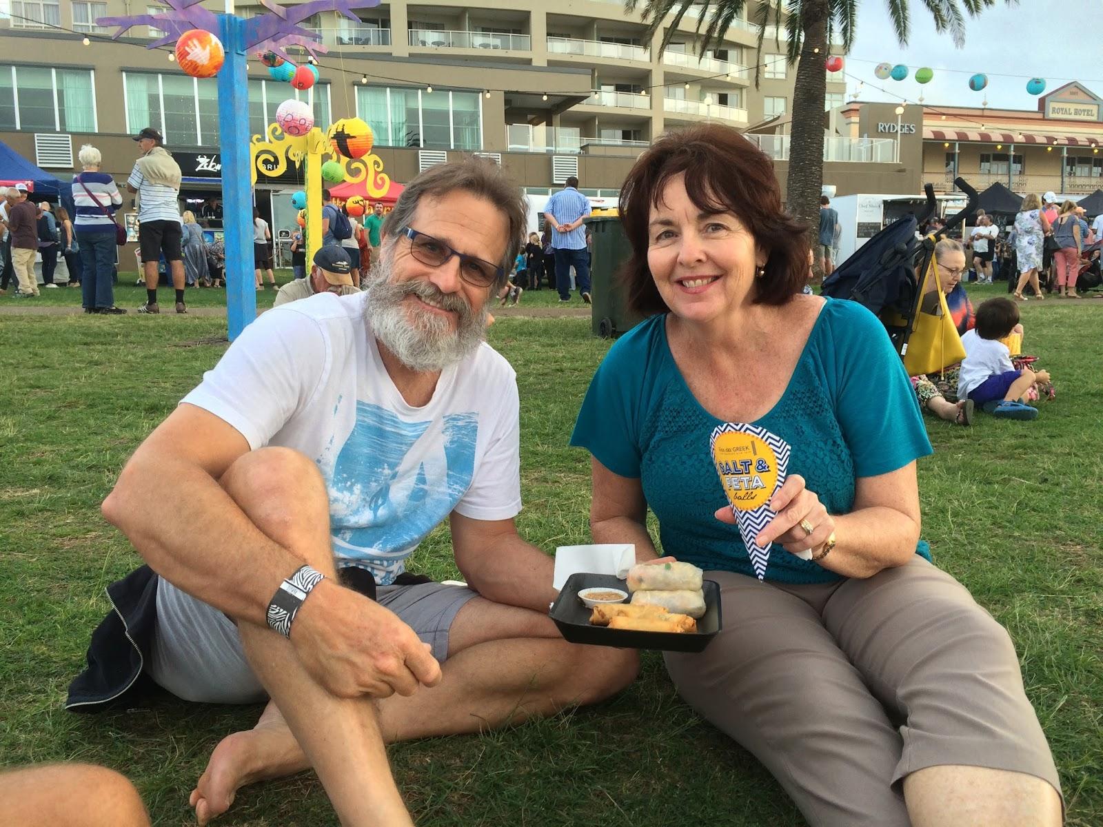 Couple at Port Macquarie Tastings on Hastings Night Festival