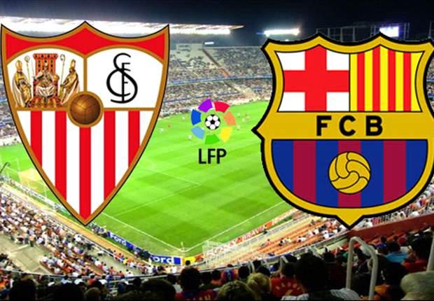 نتيجة مباراة برشلونة واشبيلية اليوم 6-11-2016 مباراة برشلونة في الدوري الأسباني، فوز برشلونة 2-1
