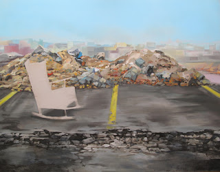 La Mecedora, pintura para la exposición Bon Voyage, Sala Conca