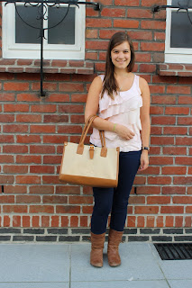 Clothes & Dreams: Ruffled: M&S Fashion ruffled top, Pull & Bear bag, Levi's LOT700 721 high righ skinny jeans, River Island boots, Daniel Wellington watch, Romeo and Juliet earrings