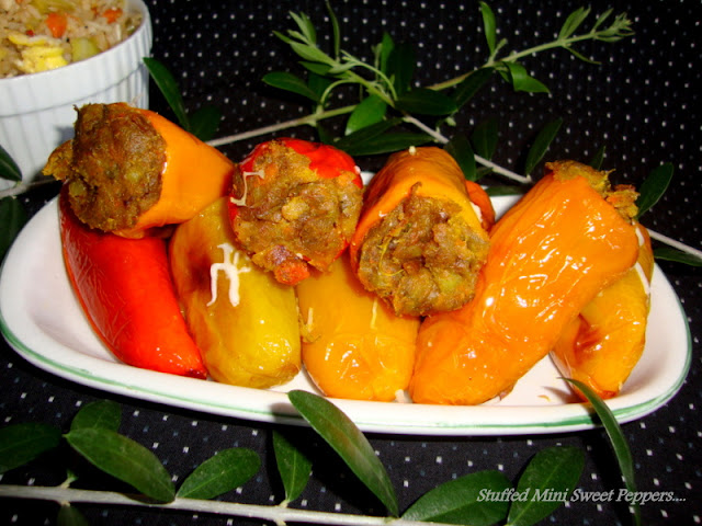 images for Stuffed Mini Sweet Peppers /Stuffed Peppers Recipe /Stuffed Mini Peppers /Baked Stuffed Peppers