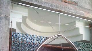 Variasi plafon dengan drop mati bertingkat