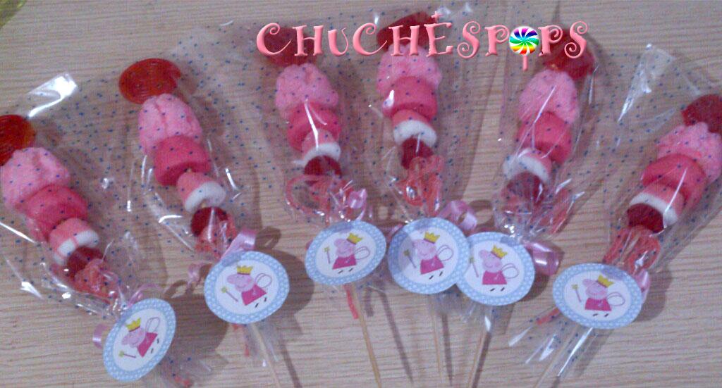 Brochetas de Chuches Peppa Pig