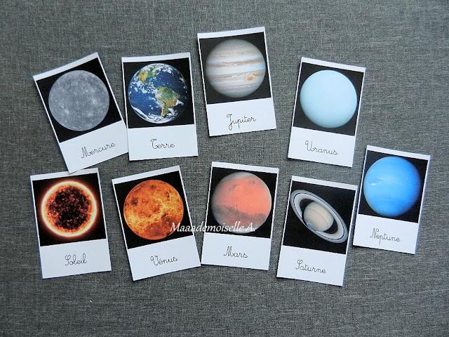 || Cartes de nomenclature ; Système solaire