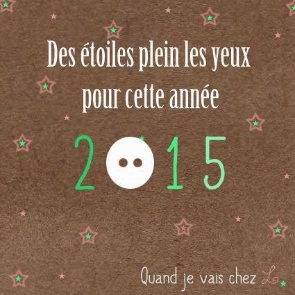 carte de voeux nouvelle année étoiles boutons 2015