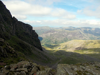 route to mickledore and scafell