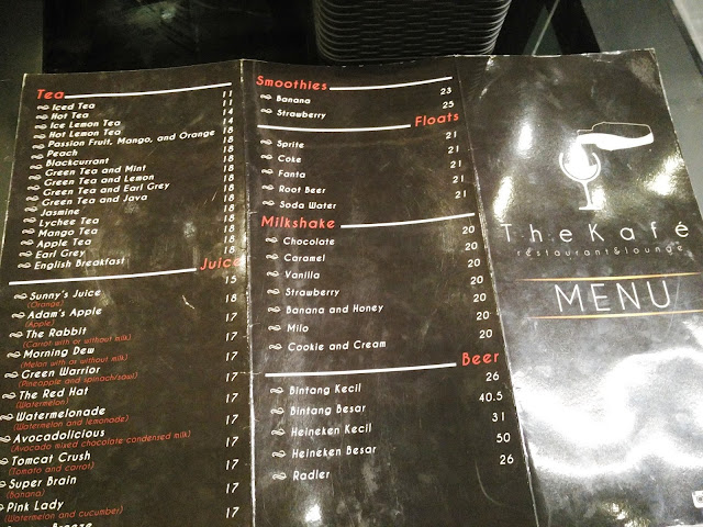 Menu di The Kafe Padang