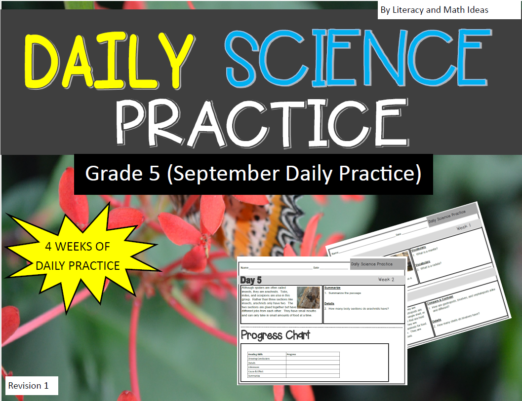 Literacy Amp Math Ideas Daily Science Practice