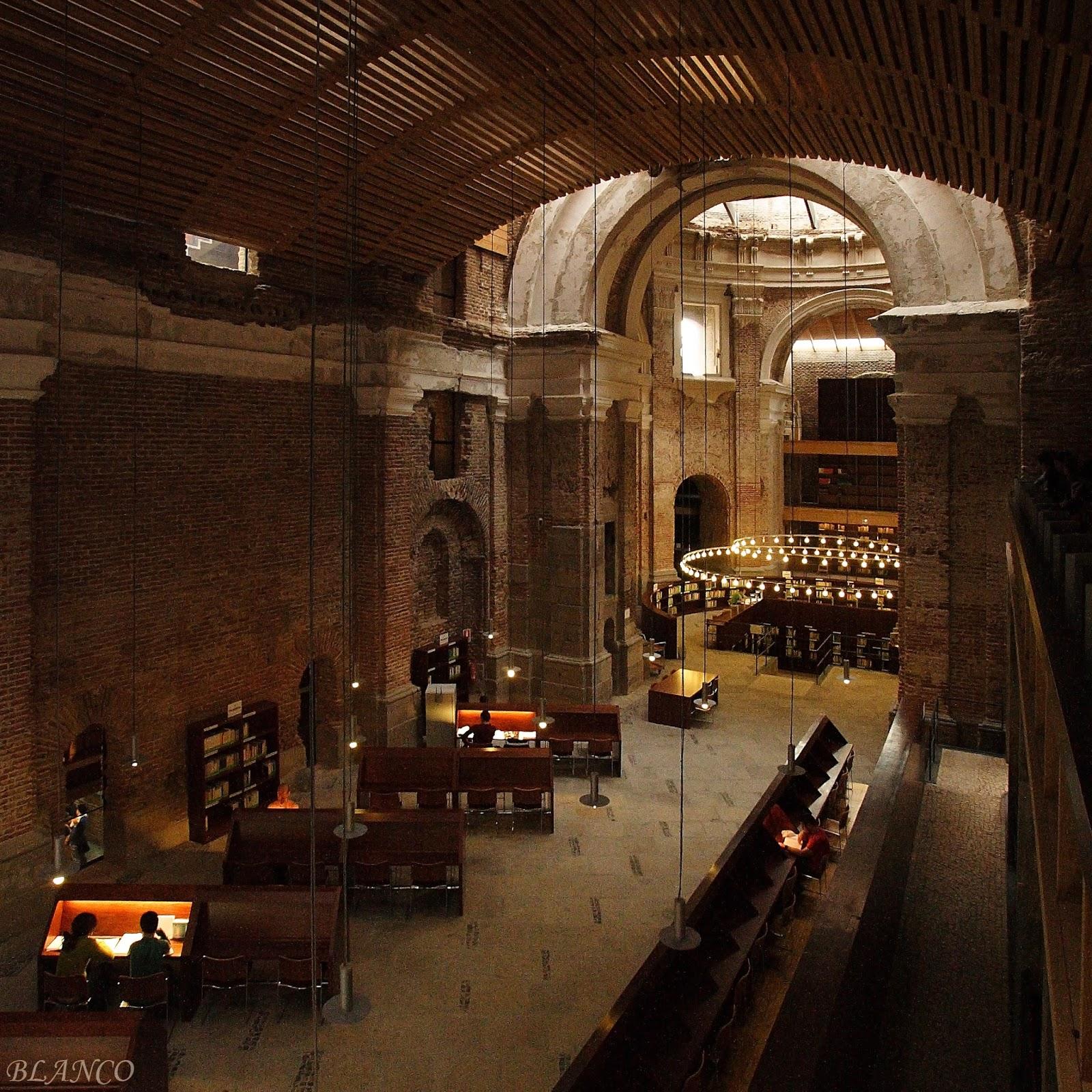 Madrid en foto escuelas p as de san fernando biblioteca for Biblioteca uned