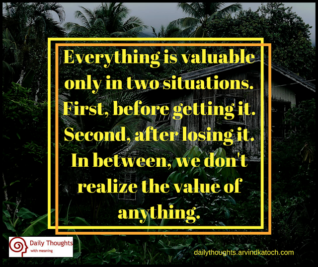 valuable, situations, realize, quote, daily quote,